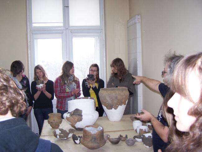 Zajęcia praktyczne w Instytucie Archeologii UŁ