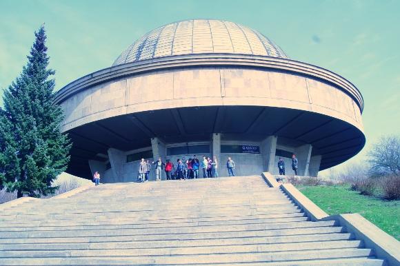 W Chorzowie, w planetarium.